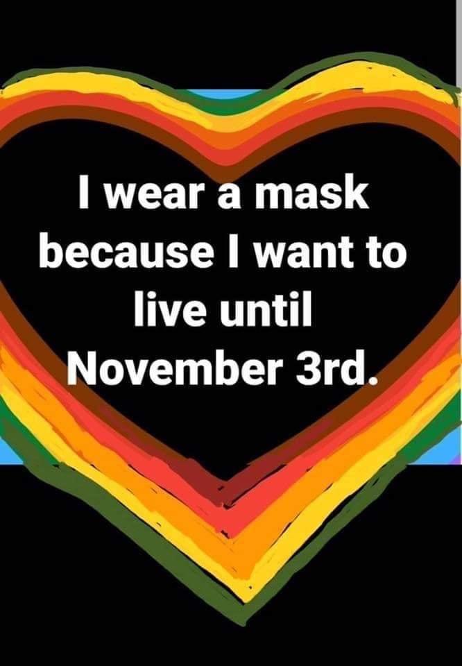want to wear mask untill Nov3