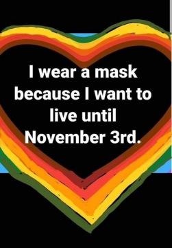 want to wear mask untill Nov3